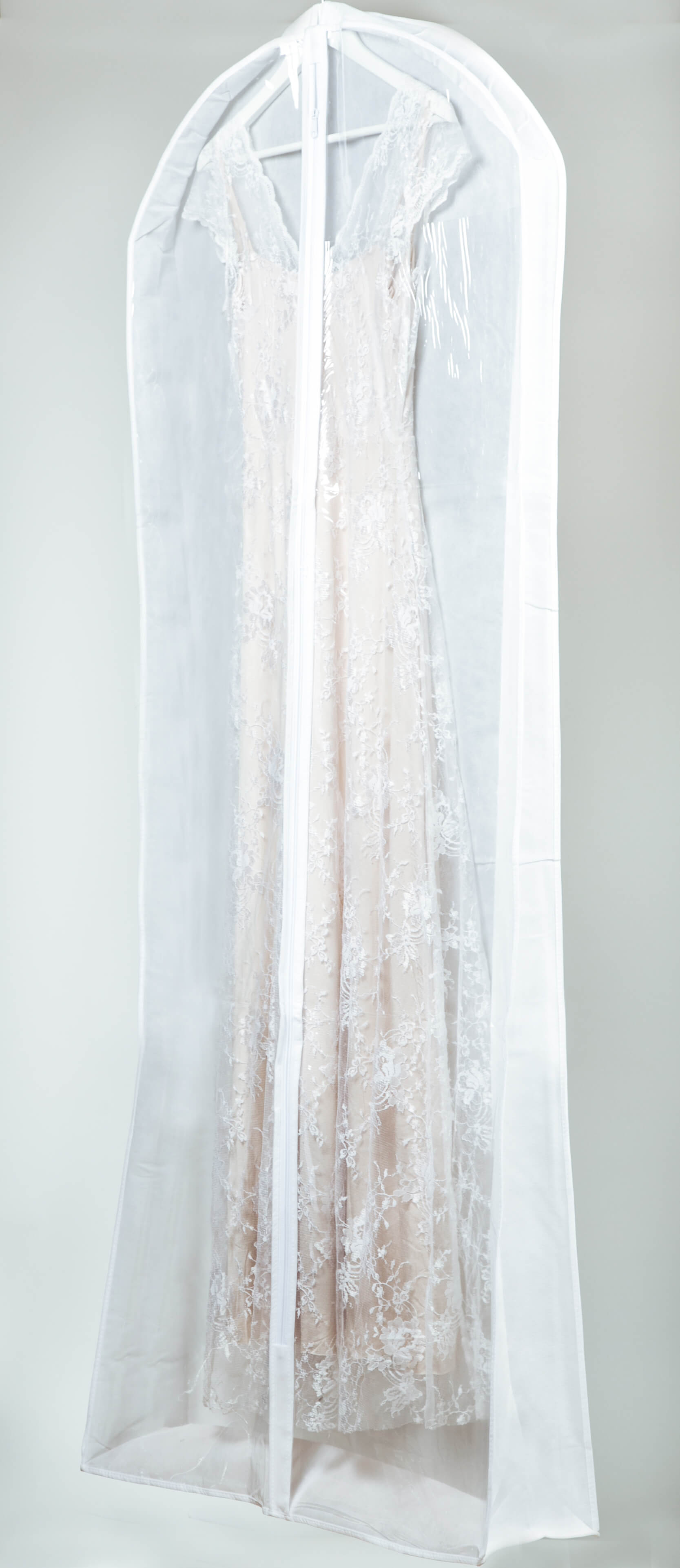 קאבר לשמלות כלה רחב עומק חצי שקוף עבה