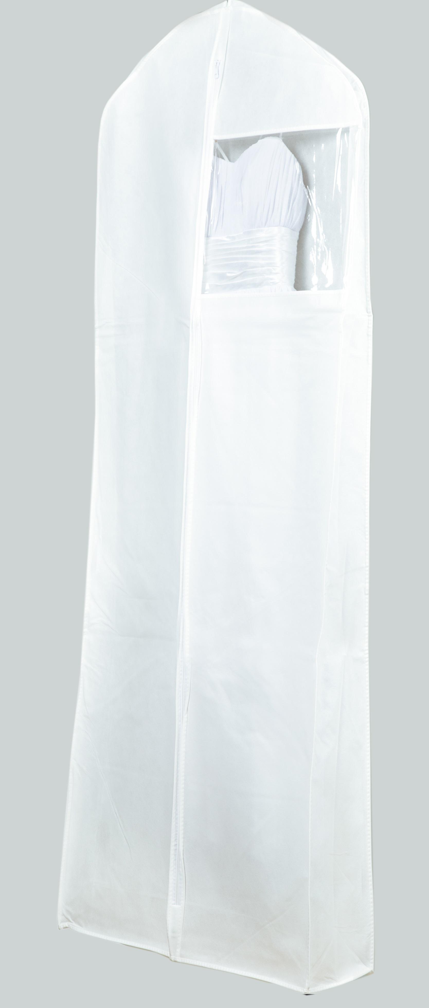 קאבר לשמלות כלה רחב עומק לבן עבה