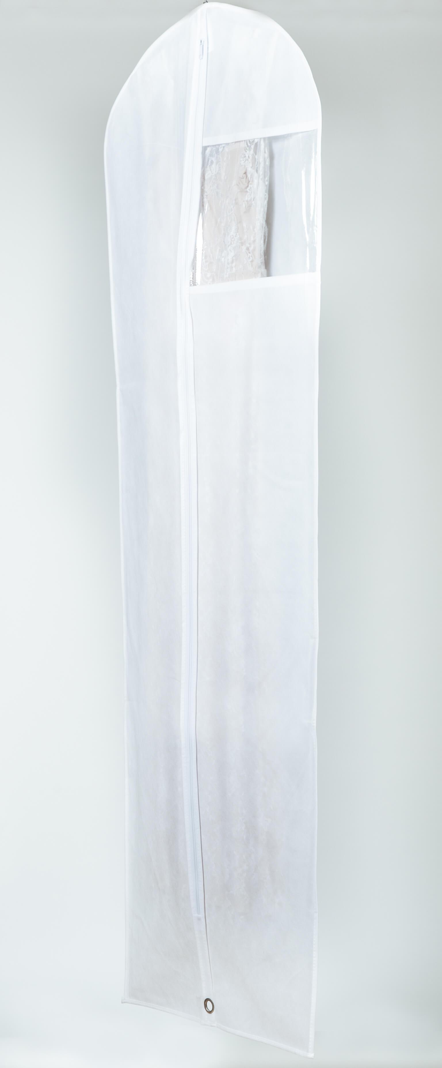 קאבר לשמלות כלה ארוך לבן