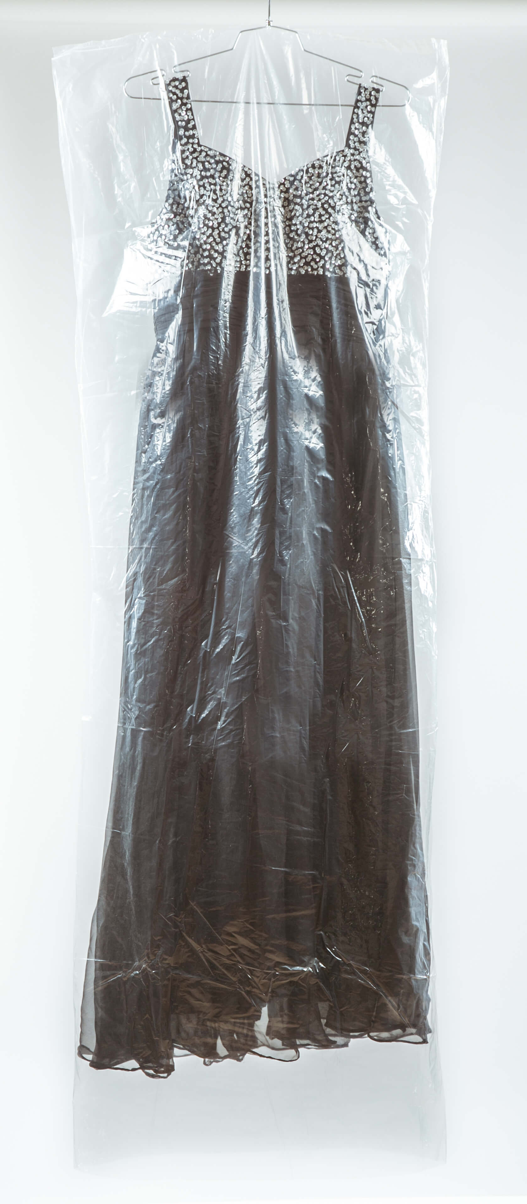 Long transparent nylon dress cover