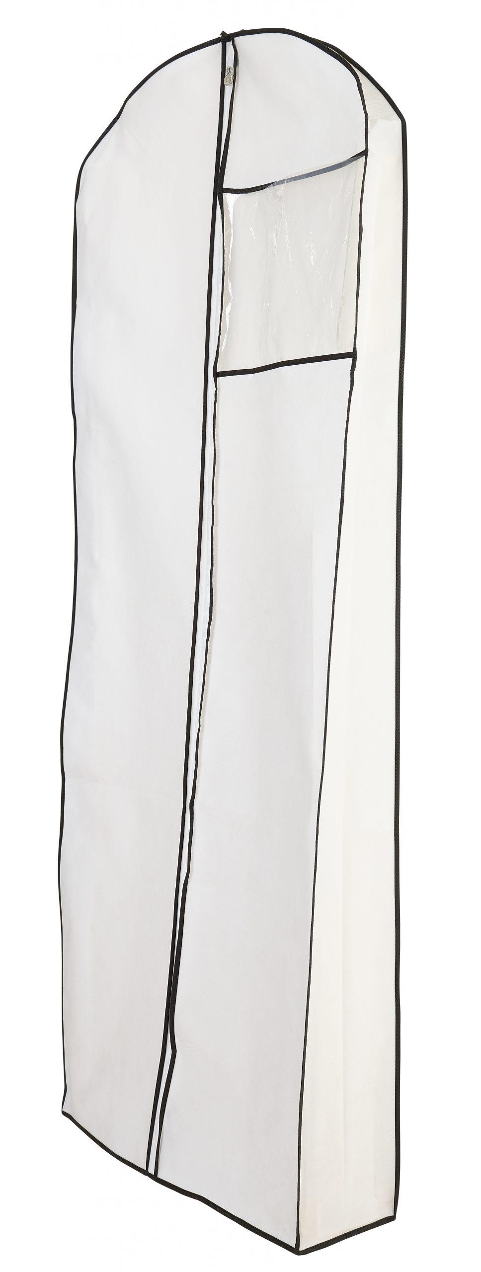 קאבר לשמלות כלה עומק לבן שול שחור עבה