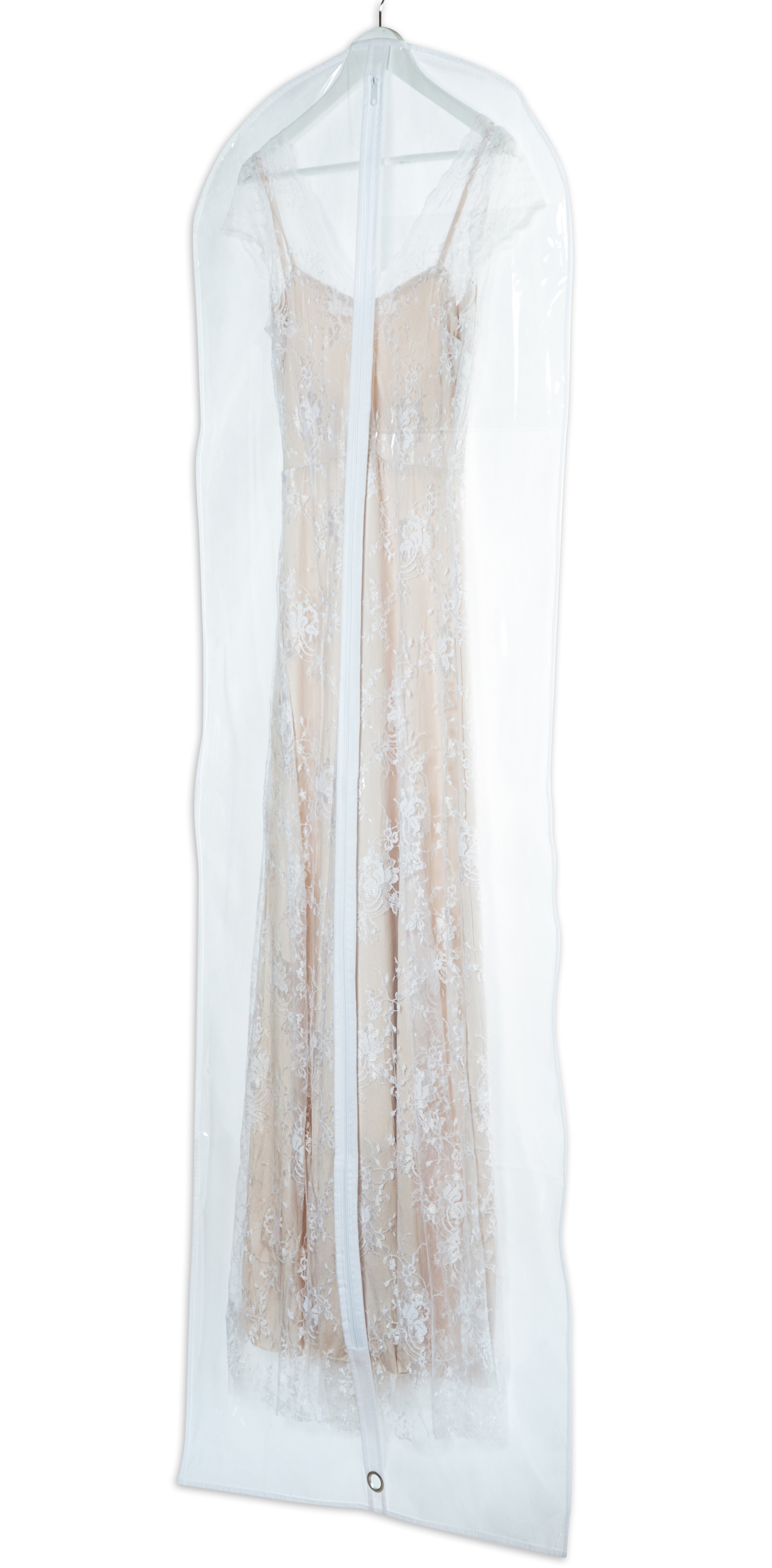 קאבר לשמלות כלה ארוך חצי שקוף
